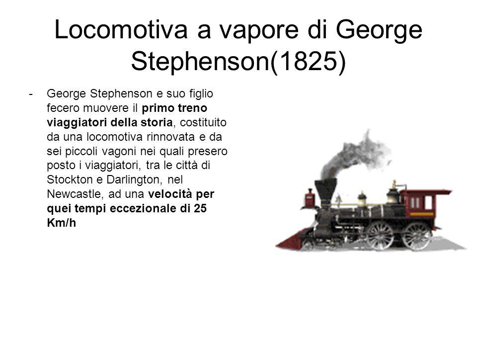 Locomotiva a vapore di George Stephenson(1825)