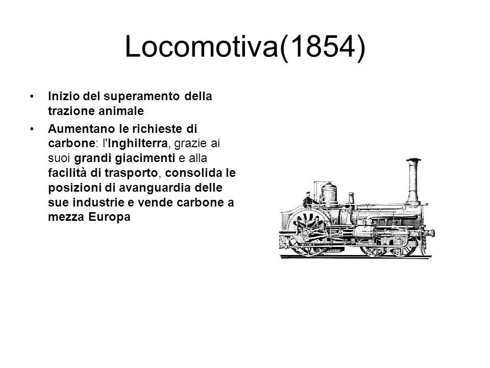 Locomotiva(1854) Inizio del superamento della trazione animale