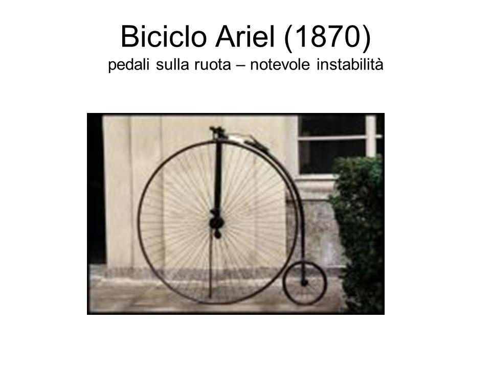 Biciclo Ariel (1870) pedali sulla ruota – notevole instabilità