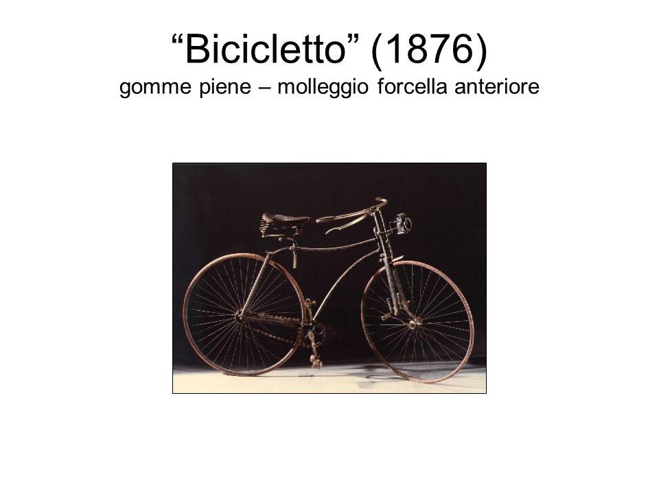 Bicicletto (1876) gomme piene – molleggio forcella anteriore