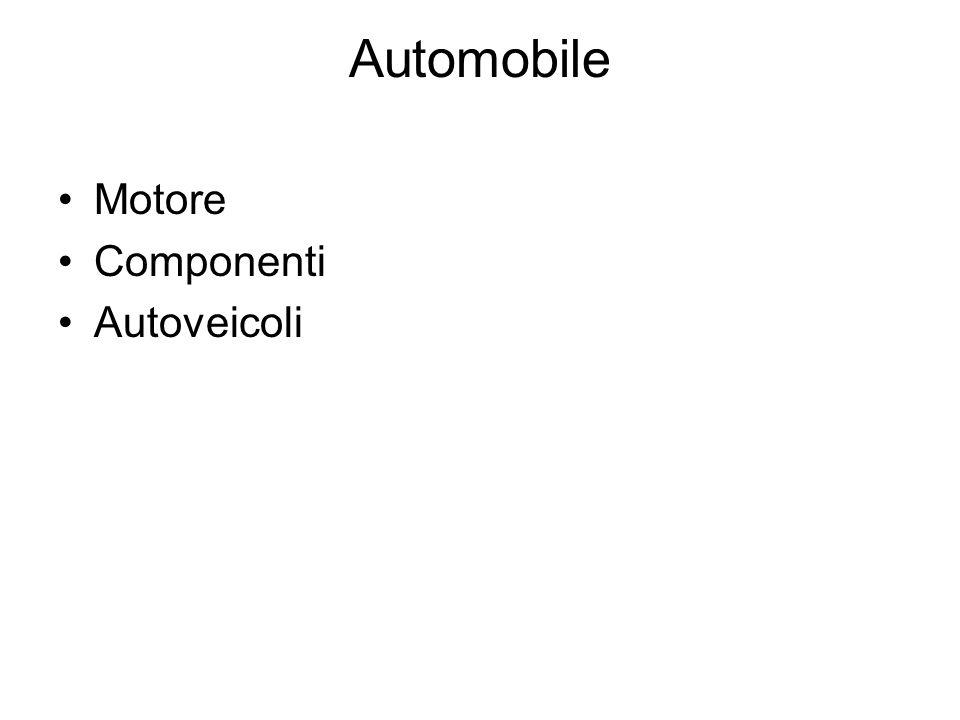 Automobile Motore Componenti Autoveicoli