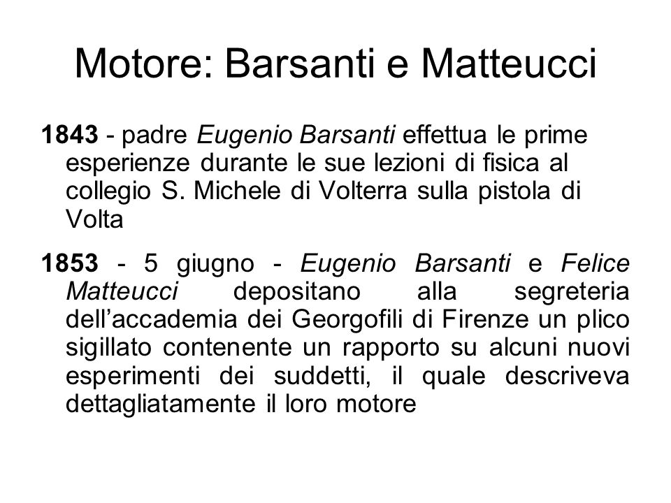 Motore: Barsanti e Matteucci