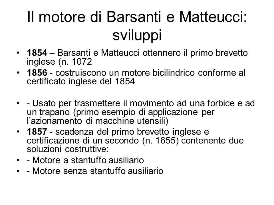 Il motore di Barsanti e Matteucci: sviluppi