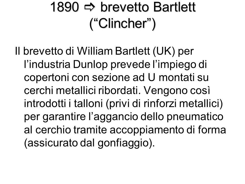1890  brevetto Bartlett ( Clincher )