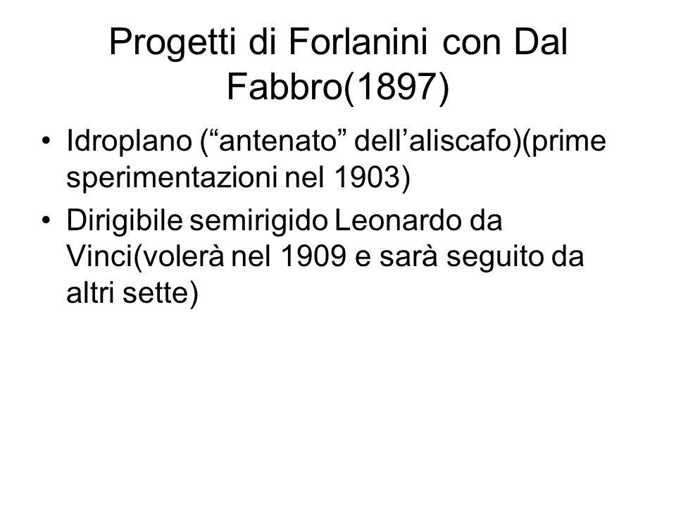 Progetti di Forlanini con Dal Fabbro(1897)