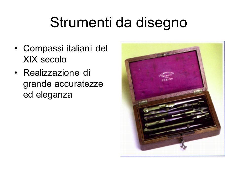 Strumenti da disegno Compassi italiani del XIX secolo