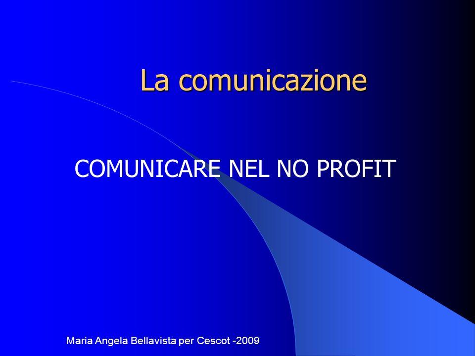 COMUNICARE NEL NO PROFIT