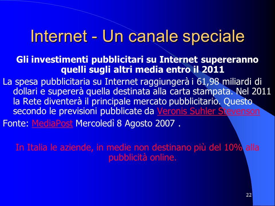 Internet - Un canale speciale