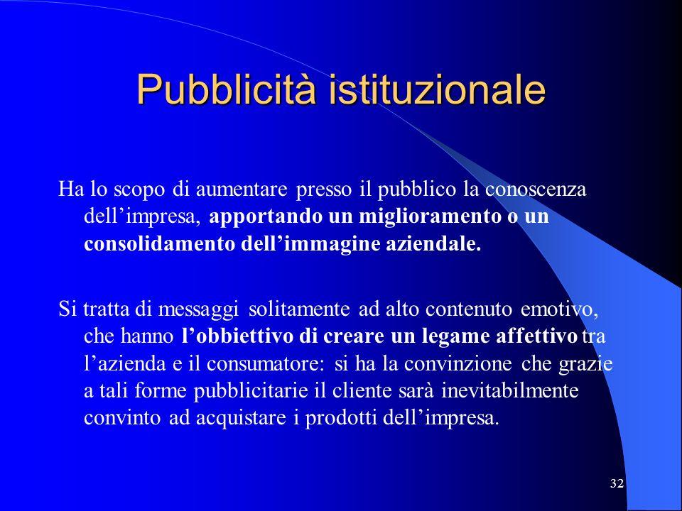 Pubblicità istituzionale