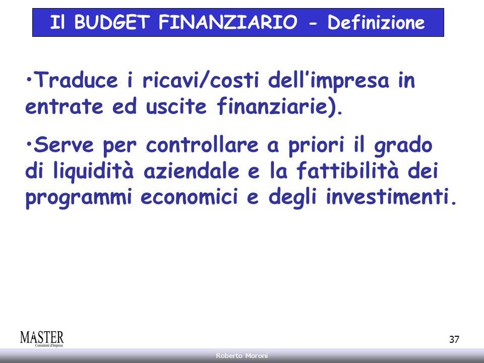 Il BUDGET FINANZIARIO - Definizione