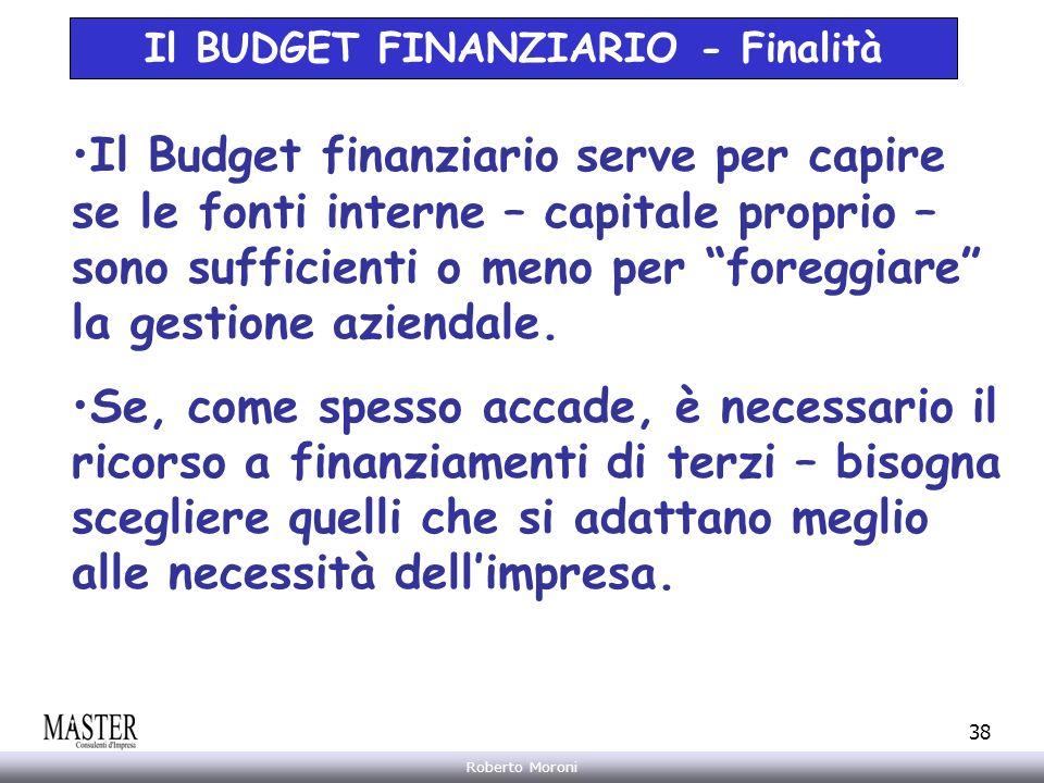 Il BUDGET FINANZIARIO - Finalità