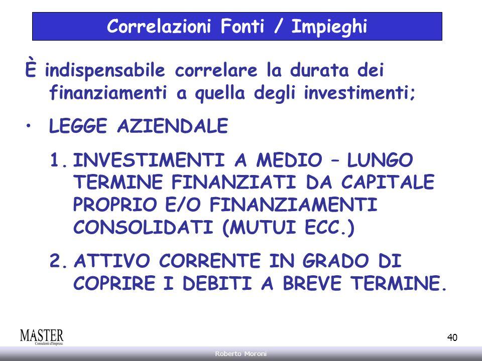 Correlazioni Fonti / Impieghi