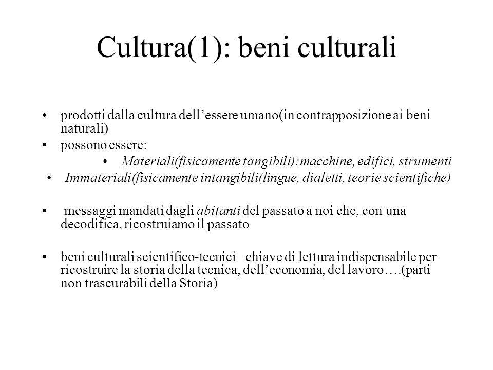 Cultura(1): beni culturali