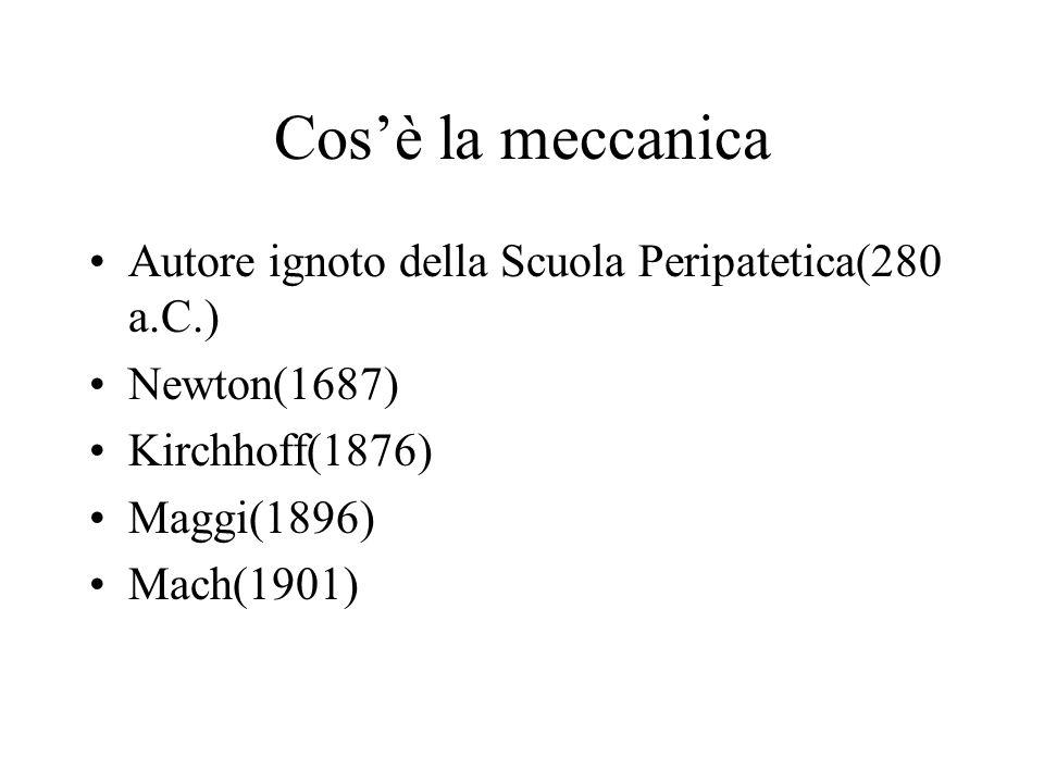 Cos'è la meccanica Autore ignoto della Scuola Peripatetica(280 a.C.)