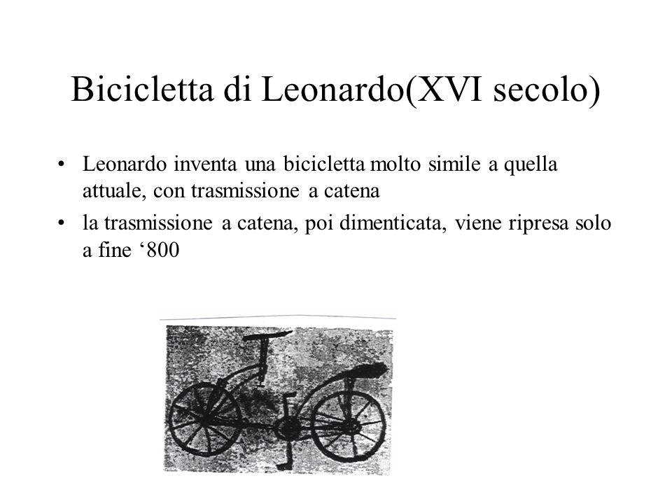 Bicicletta di Leonardo(XVI secolo)