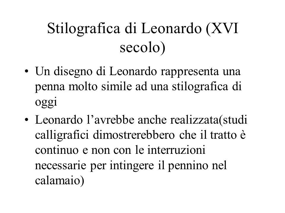Stilografica di Leonardo (XVI secolo)