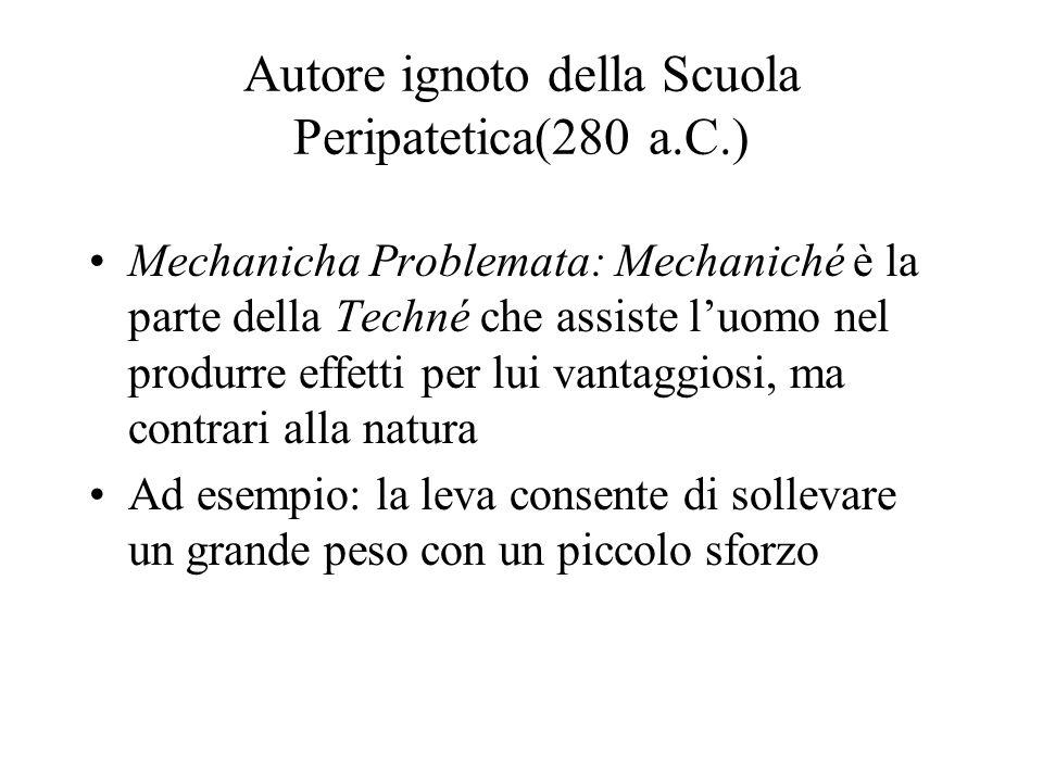 Autore ignoto della Scuola Peripatetica(280 a.C.)