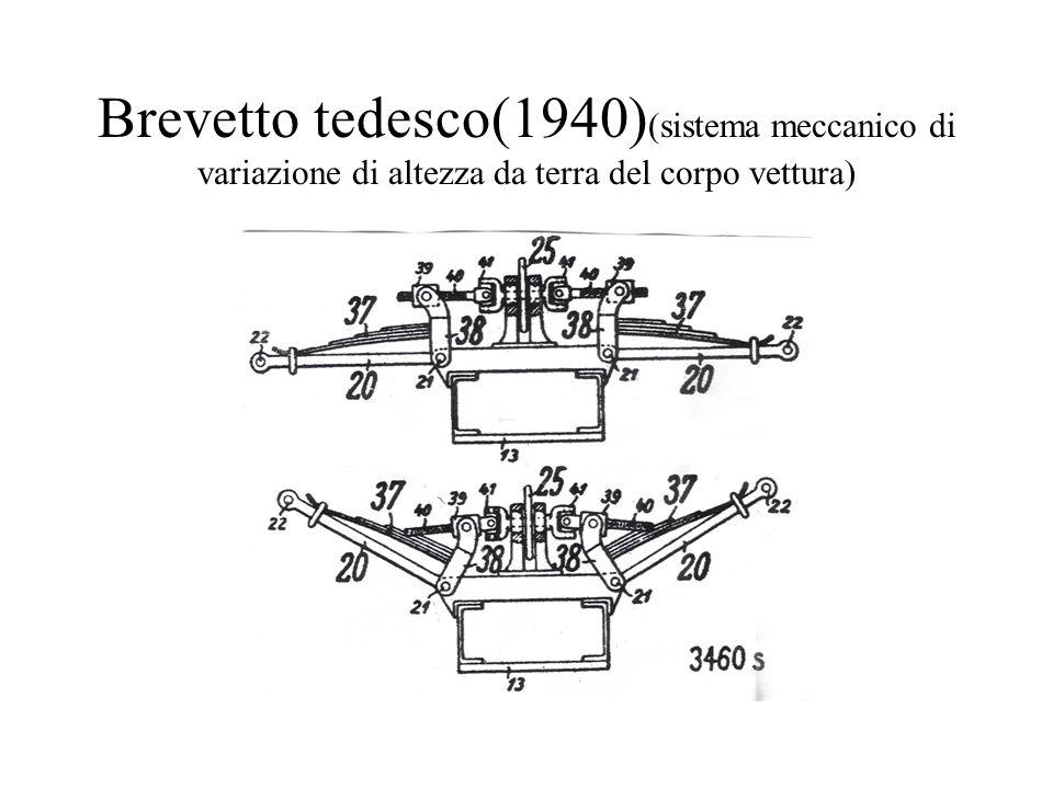Brevetto tedesco(1940)(sistema meccanico di variazione di altezza da terra del corpo vettura)