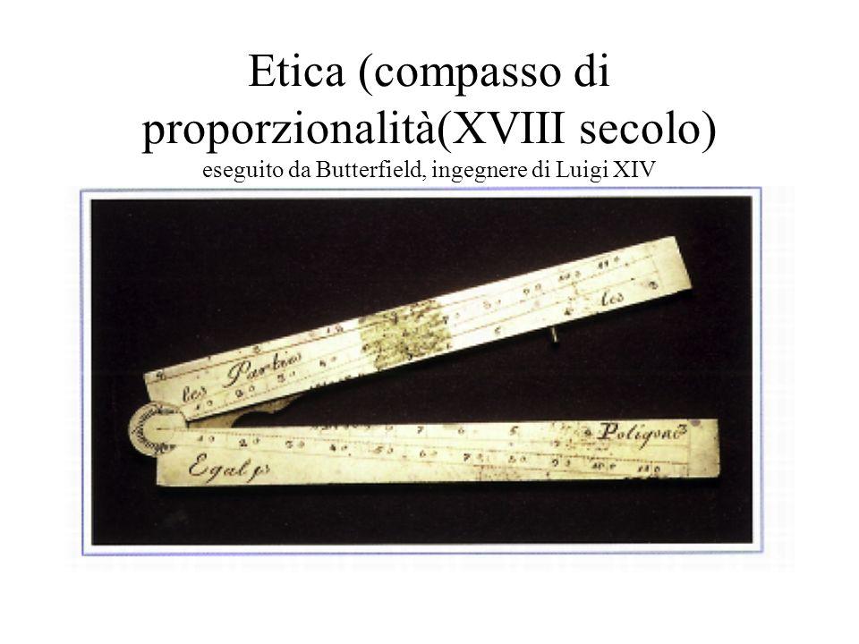 Etica (compasso di proporzionalità(XVIII secolo) eseguito da Butterfield, ingegnere di Luigi XIV