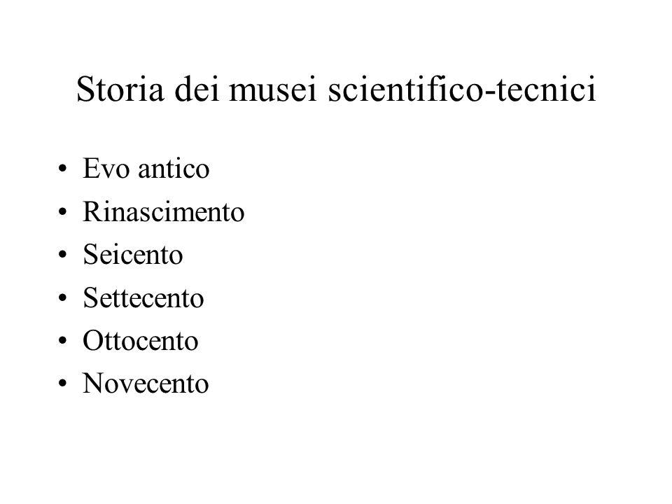Storia dei musei scientifico-tecnici