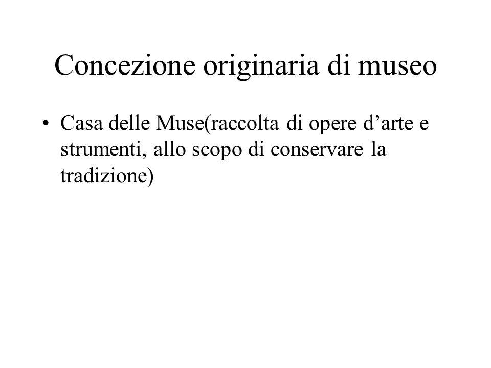 Concezione originaria di museo