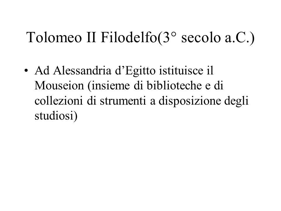Tolomeo II Filodelfo(3° secolo a.C.)