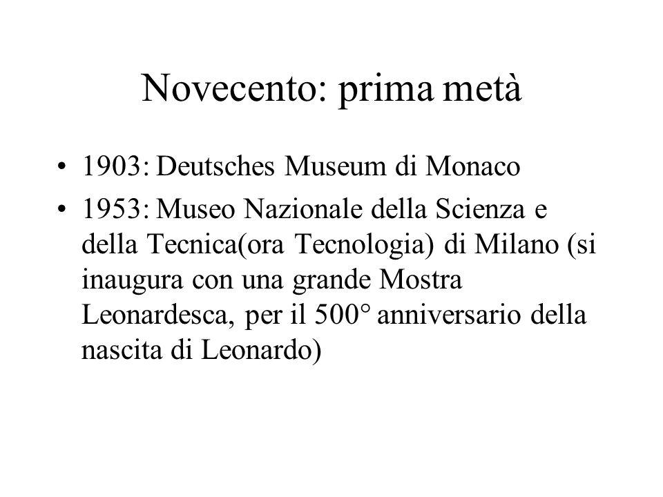 Novecento: prima metà 1903: Deutsches Museum di Monaco