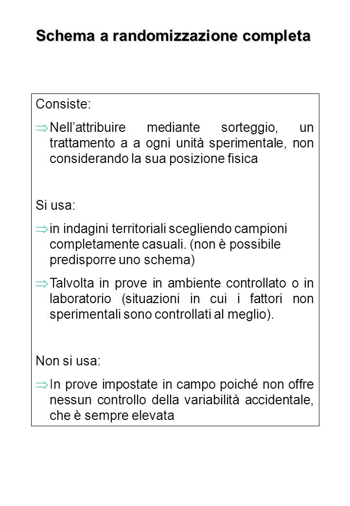 Schema a randomizzazione completa