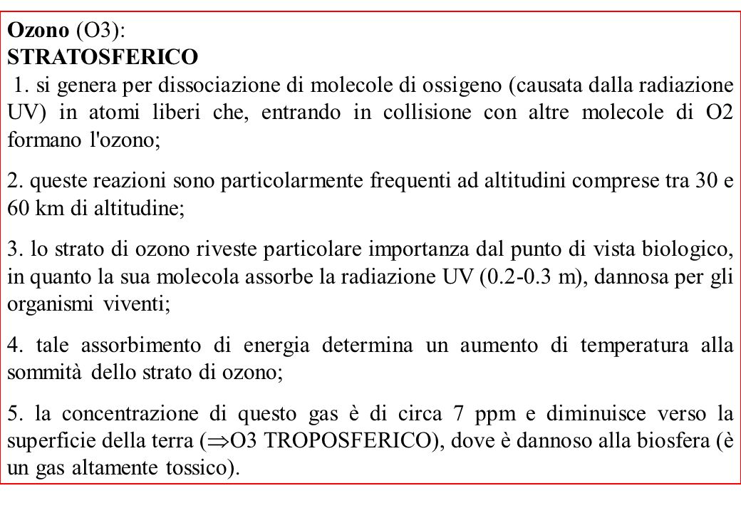 Ozono (O3): STRATOSFERICO