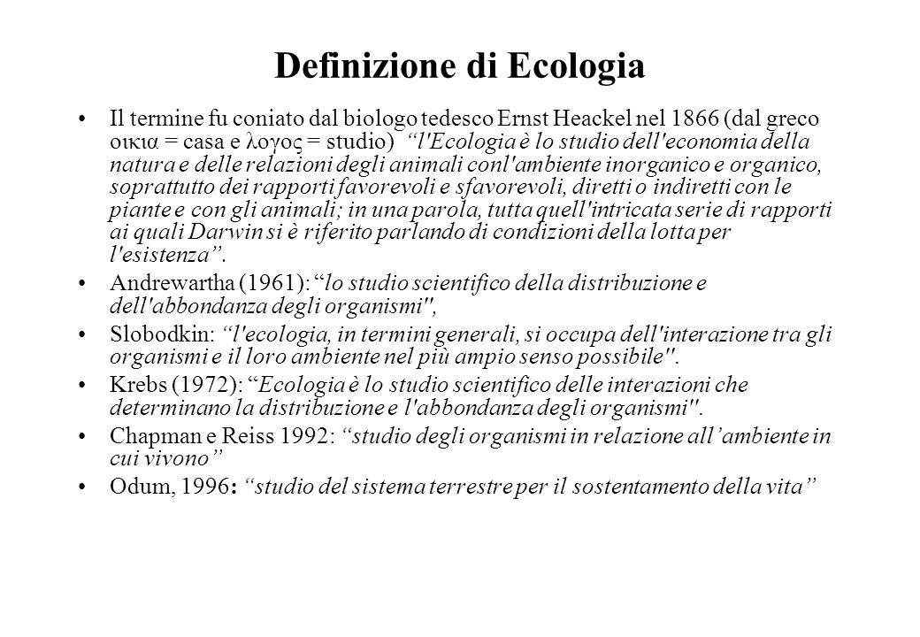 Definizione di Ecologia