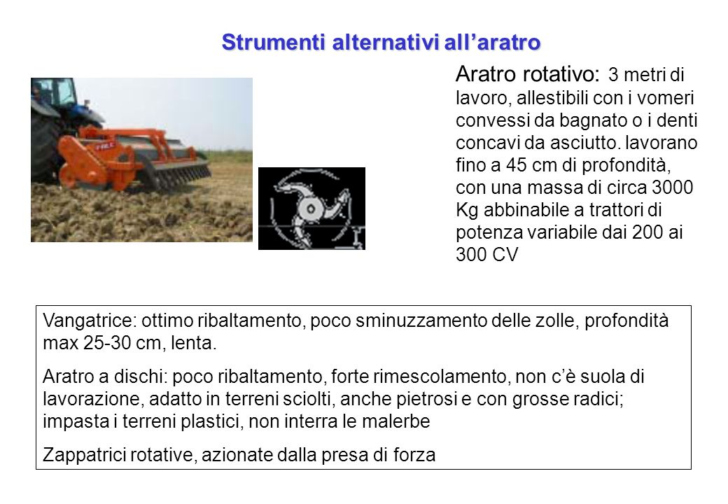 Strumenti alternativi all'aratro