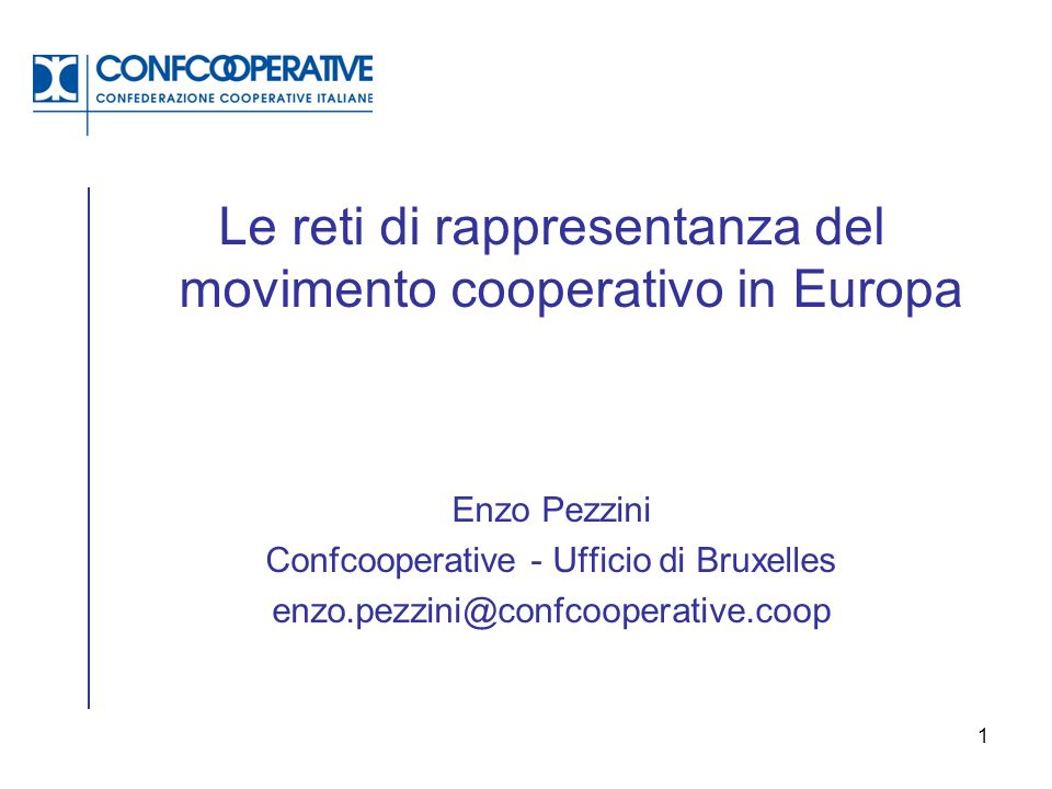 Le reti di rappresentanza del movimento cooperativo in Europa