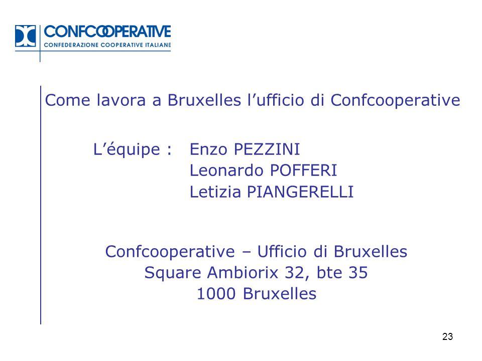 Confcooperative – Ufficio di Bruxelles