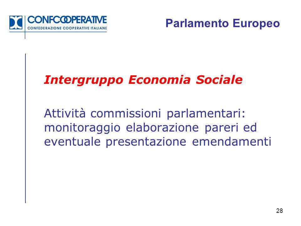 Parlamento Europeo Intergruppo Economia Sociale.