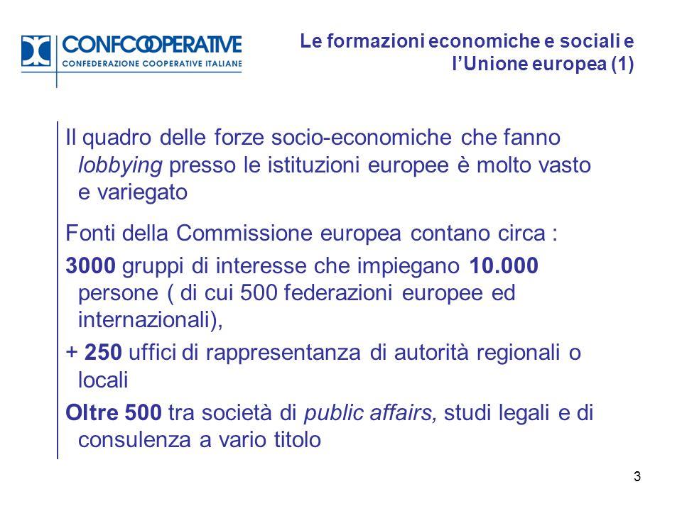 Le formazioni economiche e sociali e l'Unione europea (1)