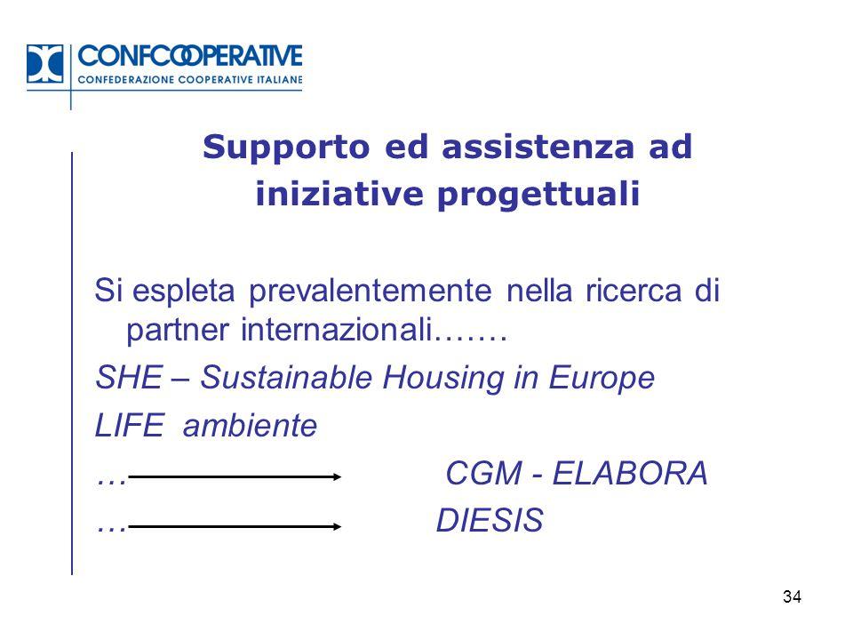 Supporto ed assistenza ad iniziative progettuali