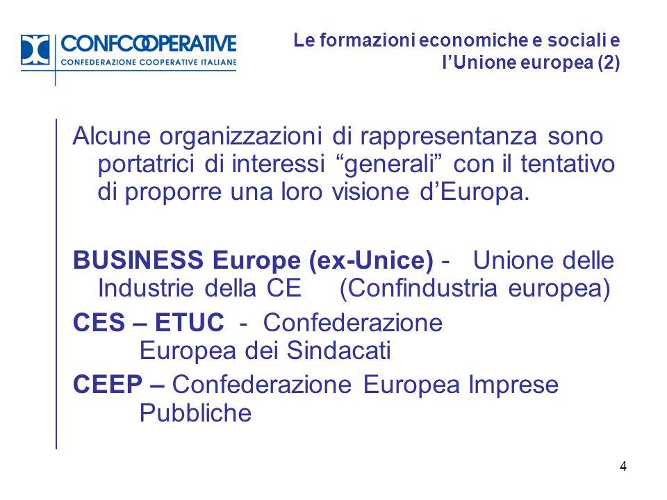 Le formazioni economiche e sociali e l'Unione europea (2)