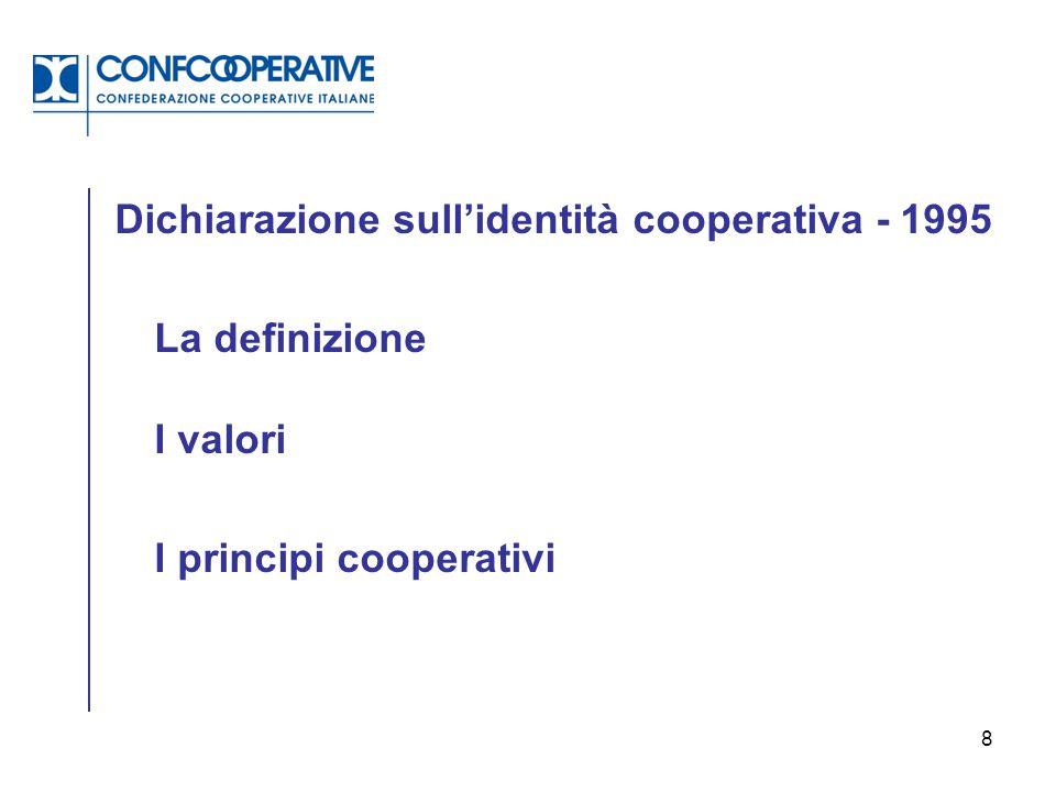 Dichiarazione sull'identità cooperativa - 1995