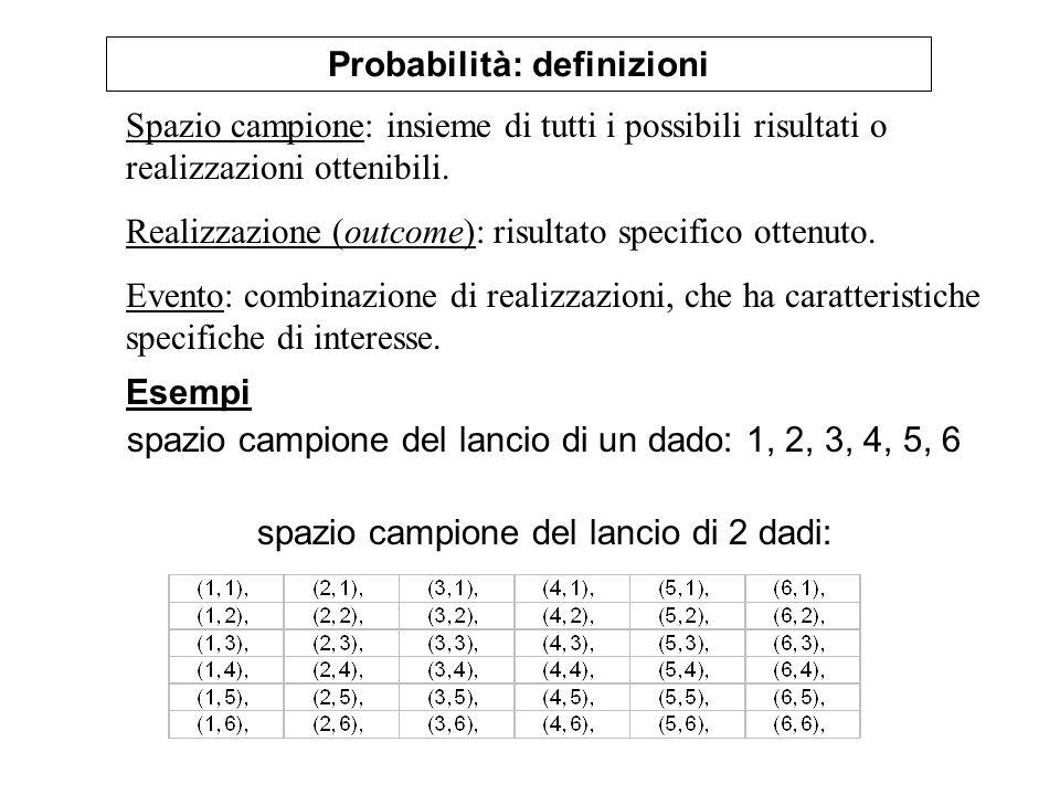 Probabilità: definizioni