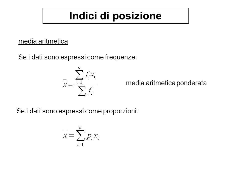 Indici di posizione media aritmetica