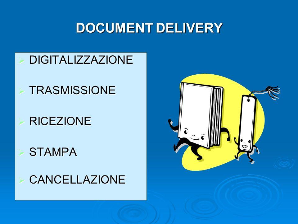 DOCUMENT DELIVERY DIGITALIZZAZIONE TRASMISSIONE RICEZIONE STAMPA