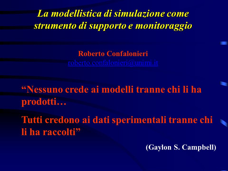 Roberto Confalonieri roberto.confalonieri@unimi.it