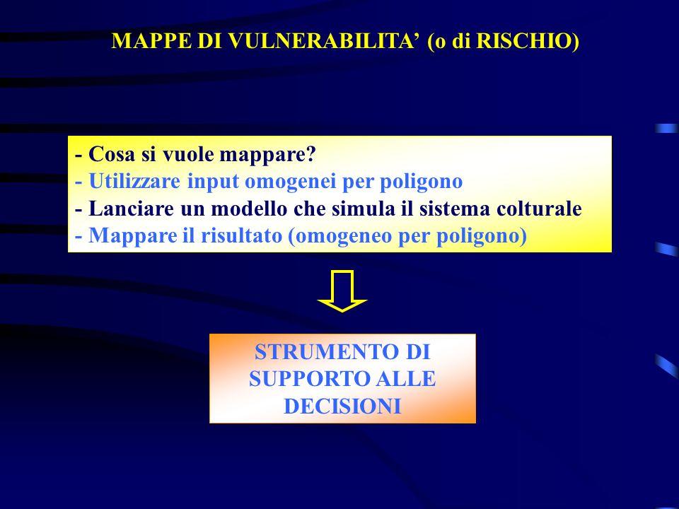 MAPPE DI VULNERABILITA' (o di RISCHIO)