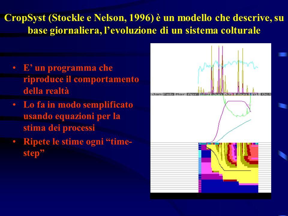 CropSyst (Stockle e Nelson, 1996) è un modello che descrive, su base giornaliera, l'evoluzione di un sistema colturale
