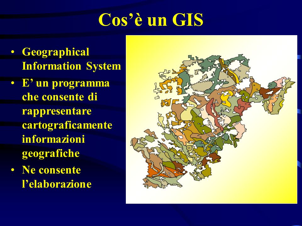 Cos'è un GIS Geographical Information System