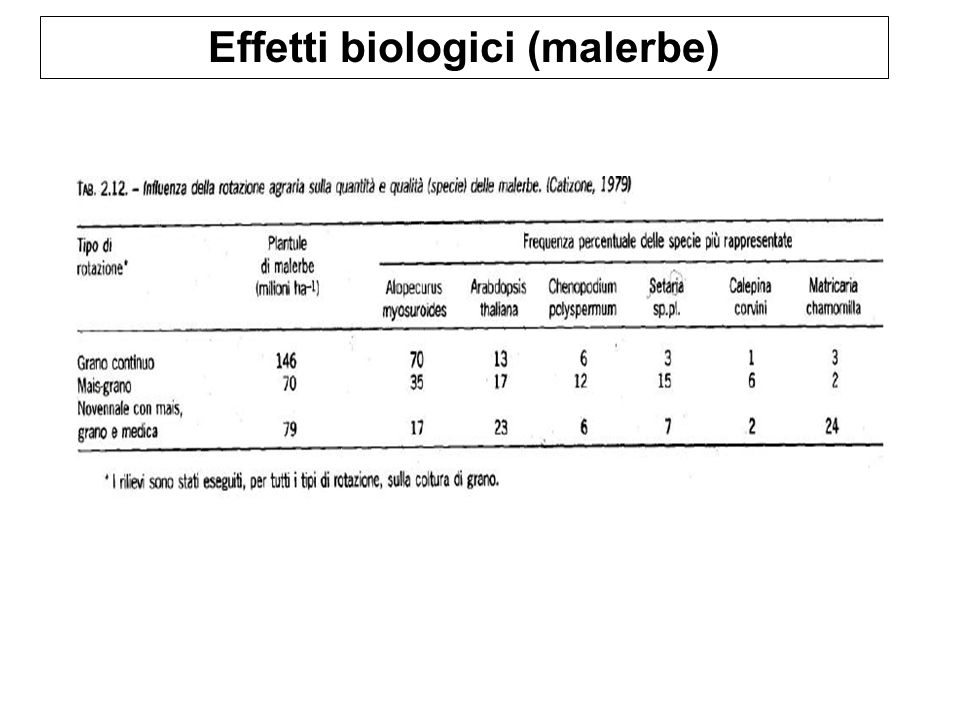 Effetti biologici (malerbe)