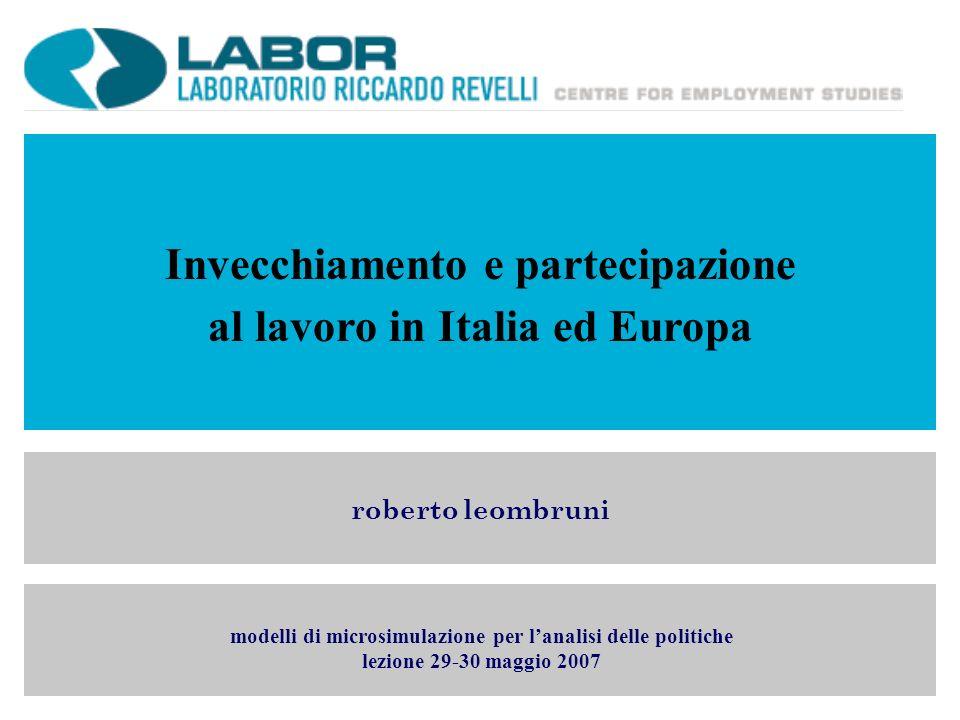 Invecchiamento e partecipazione al lavoro in Italia ed Europa