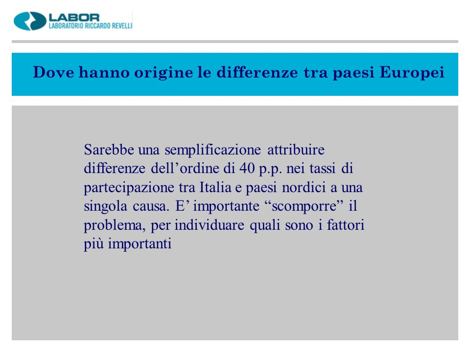 Dove hanno origine le differenze tra paesi Europei