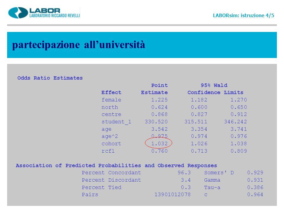 partecipazione all'università