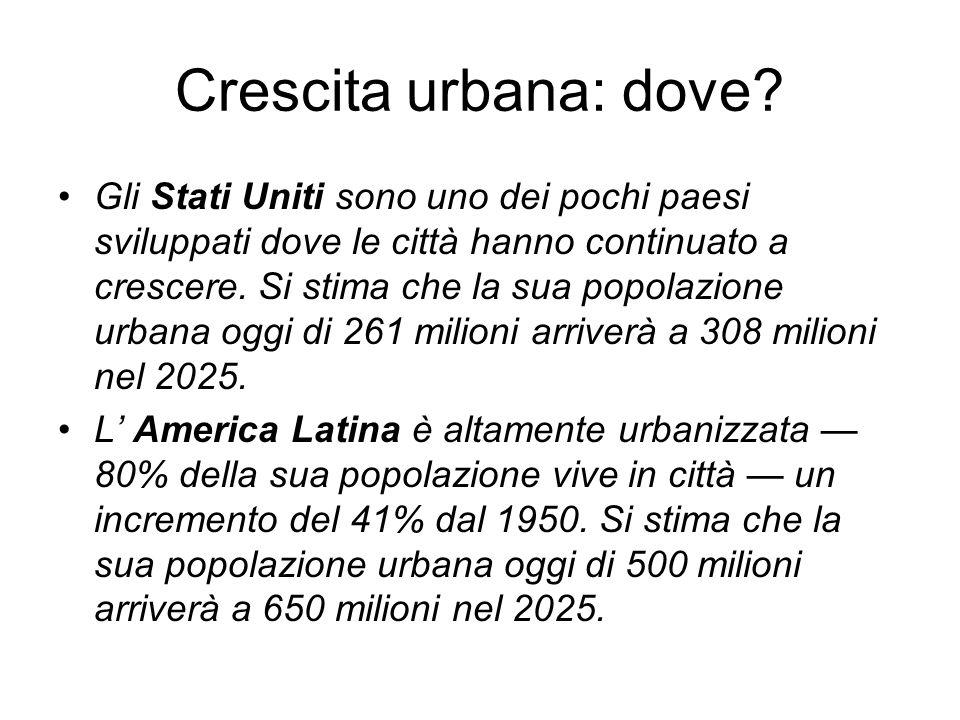 Crescita urbana: dove